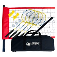 Portable Outdoor Badminton Net System with Carry Bag and Accessories