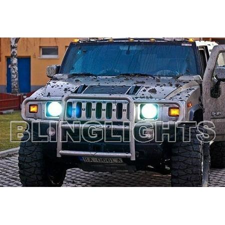 New Hummer H2 White Light Bulbs Headlamps Headlights Head Lamp Lights 2003 2004 2005 2006 2007 2008 2009