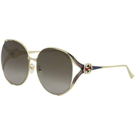 e0d4547b4f39 Gucci - Gucci GG0226/S 002 Gold Oversized Round Sunglasses - Walmart.com