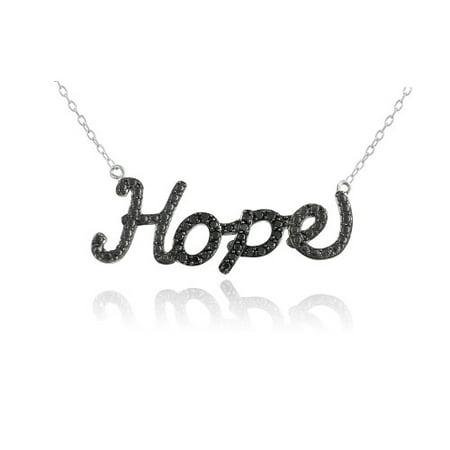 Hope Diamond Necklace - Sterling Silver 1/4ct Black Diamond