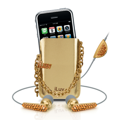 iLuv Crystal In-Ear Earphones & Holster fits iPhone i80G