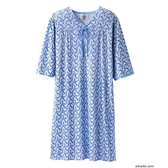 Silverts 260002804 Womens Hospital Soft Cotton Knit Adaptive Pattern ...
