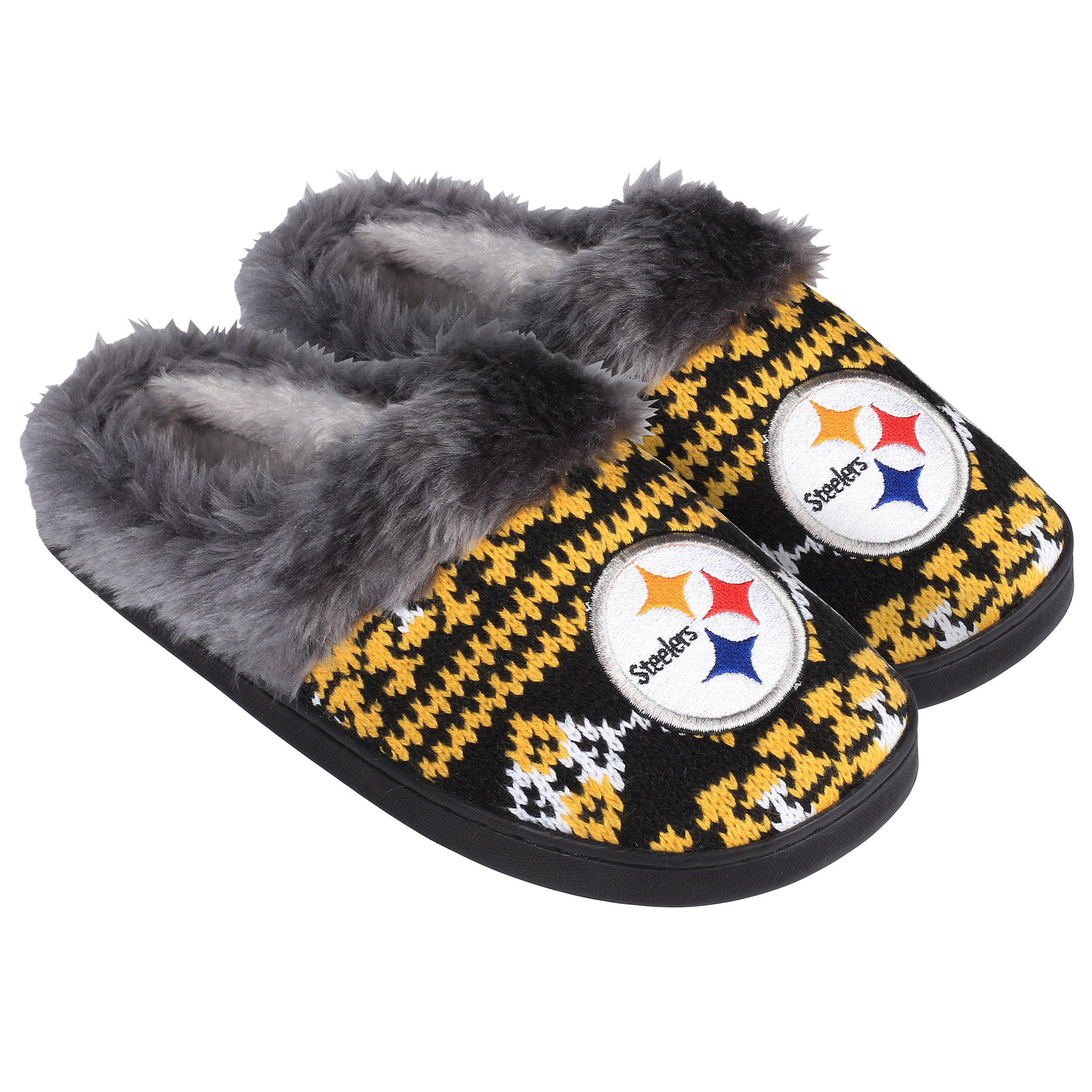 Pittsburgh Steelers Women's Aztec Slide Slipper - 12pc Case