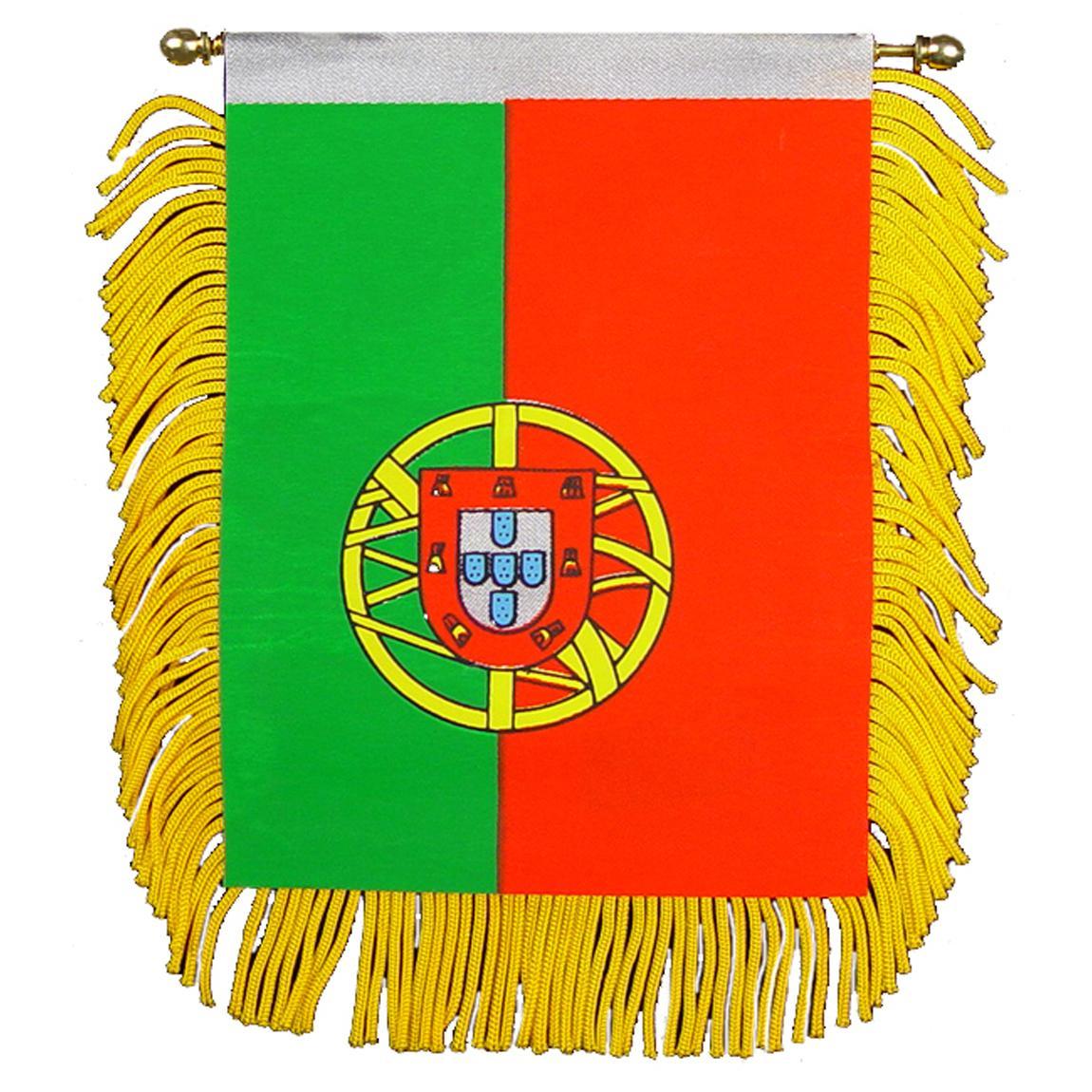 "Portugal Flag Mini Banner 3"" x 5"""