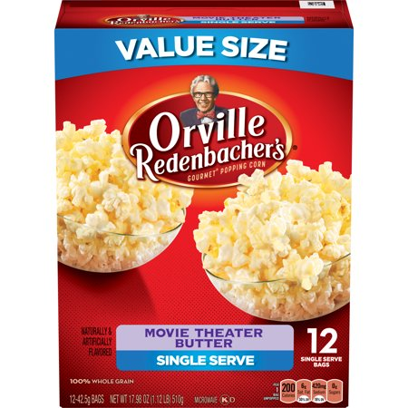 Orville Redenbachers Movie Theater Butter Popcorn  Single Serve Bag  12 Count