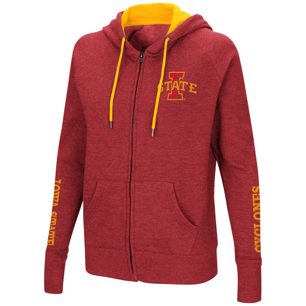 Iowa State Cyclones Women's Full Zip Hoodie Sweatshirt