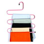 S Shape Clothes Hanger Multilayer Mental Clothing Rack Holder Pants Neckties Scarves Wardrobe Organizer