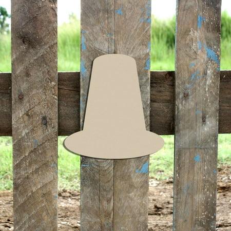 Wooden Pilgrim Hat Shape, Unfinished Wood Craft, DIY 6'' Lot of 10 - Pilgrim Crafts