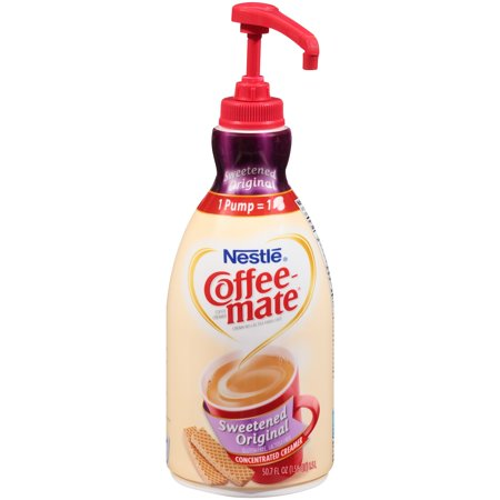Nestl  Coffee Mate Sweetened Original Liquid Coffee Creamer 50 7 Fl  Oz  Bottle