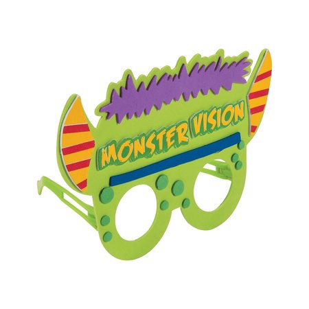 Fun Express - Monster Vision Foam Kids Glasses CK-12 for Halloween - Craft Kits - Apparel Craft Kits - Misc Apparel Craft Kits - Halloween - 12 Pieces - Creatology Halloween Foam Kit