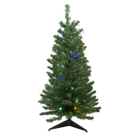 Northlight 3' Prelit Artificial Christmas Tree Medium Mixed Classic Pine - Multicolor LED Lights ()