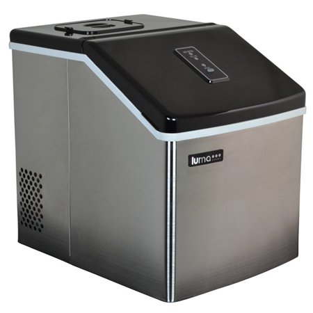 Countertop Ice Maker At Walmart : Portable Stainless Steel Countertop Clear Ice Maker - Walmart.com