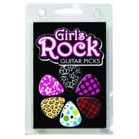 1GRRCS Hot Picks Girls Rock Clamshell (Guitar Picks For Girls)