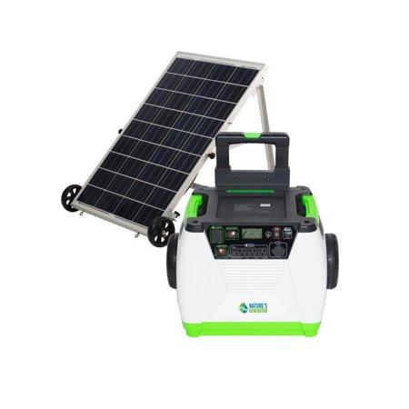Natures Generator - 1800 Watt Solar Powered Portable Generator - Gold