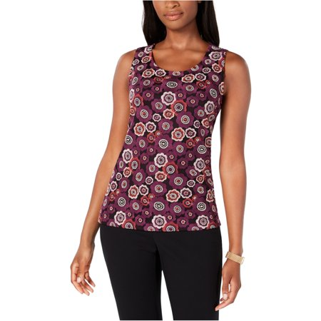 Tommy Hilfiger Womens Embroidered Sleeveless Blouse Top