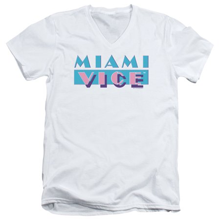 Miami Vice Logo Mens V-Neck Shirt