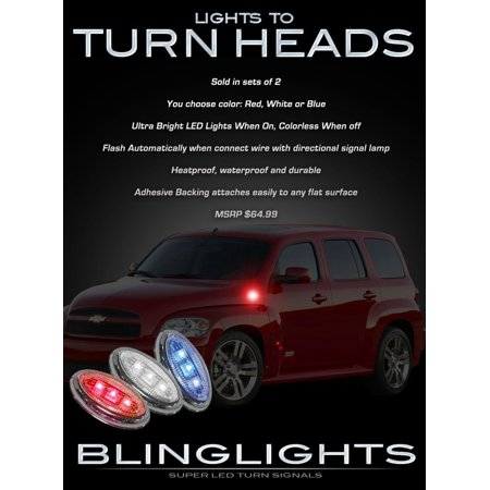 Chevy HHR LED Side Marker Accent Turnsignals Lights Turn Signals Lamps Signalers Markers Chevrolet