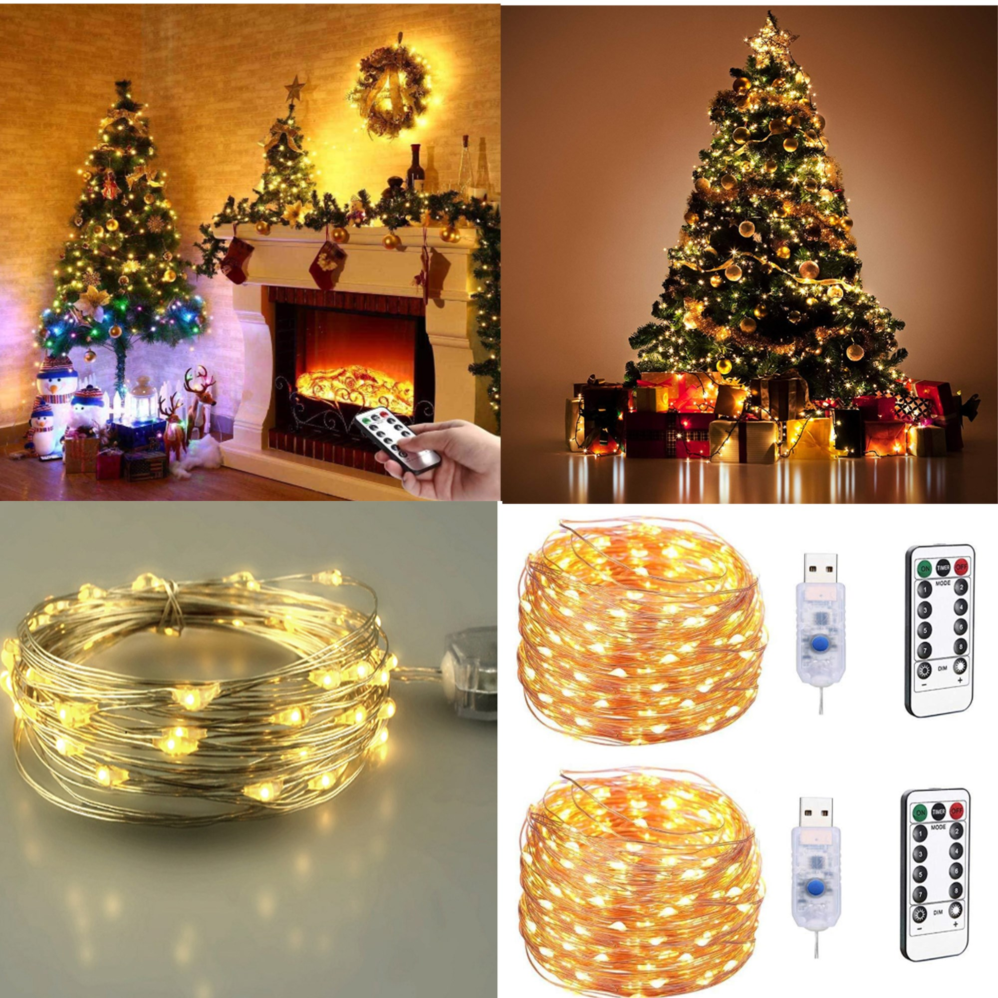 100 LED 50 FT Ball String Lights Fairy Plug In W Remote Control Decor For Indoor