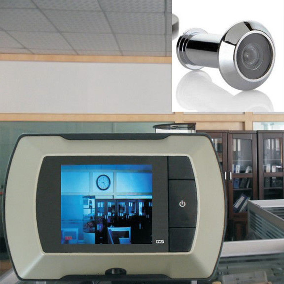 New High Resolution 2.4 inch LCD Visual Monitor Door Peephole Peep Hole Wireless Viewer Indoor Monitor Outdoor Video Camera DIY