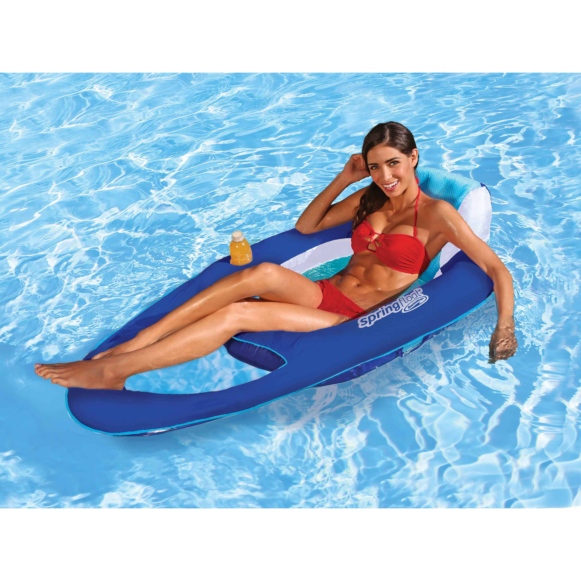SwimWays Spring Float Mesh Recliner Floating Swimming Pool Water Lounge Chair  sc 1 st  Walmart : mesh recliner - islam-shia.org