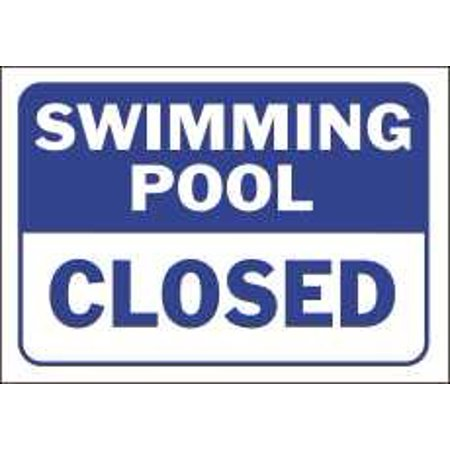 SWIMMING POOL CLOSED SIGN per 4 Each
