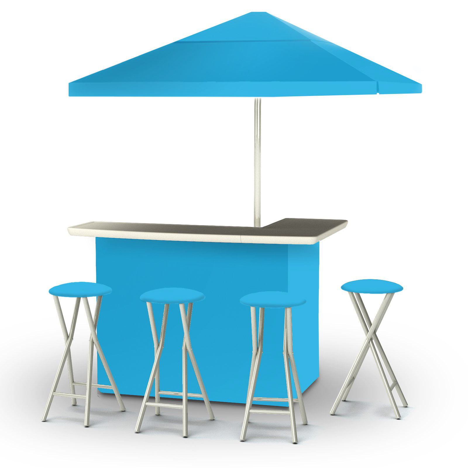 Fabulous Best Of Times Deluxe Package Solid Patio Bar And Tailgating Center With 4 Bar Stools Spiritservingveterans Wood Chair Design Ideas Spiritservingveteransorg