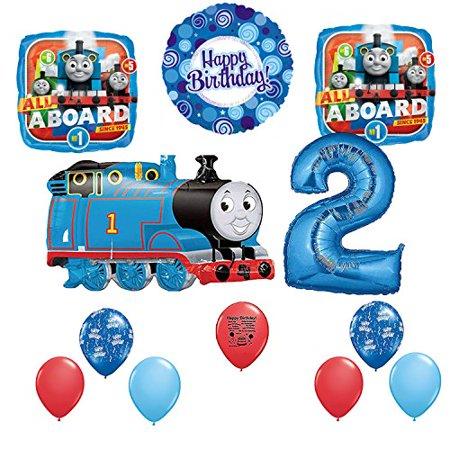 Thomas The Tank Engine Party Supplies Train 2nd Happy Birthday Balloon Set
