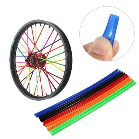 fd3527dfdc9c8 Yosoo 72 pcs Wheel Rim Spoke Skins Covers Wrap Decor Protector Kit For  Motorcycle Motocross Dirt Bike