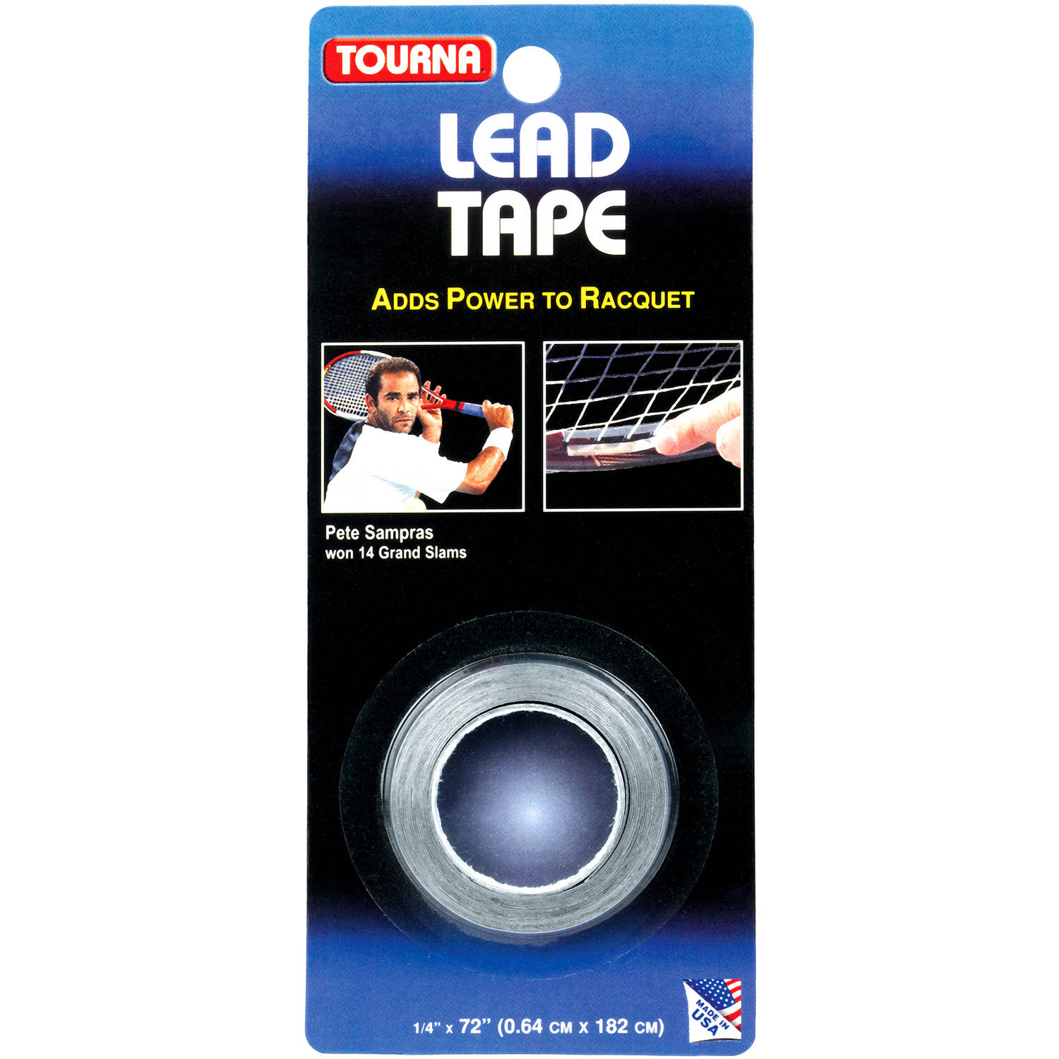 """Tourna Lead Tape (1 4"""" X 72"""") For Tennis, Golf, Racquetball and Squash by Unique Sports"""