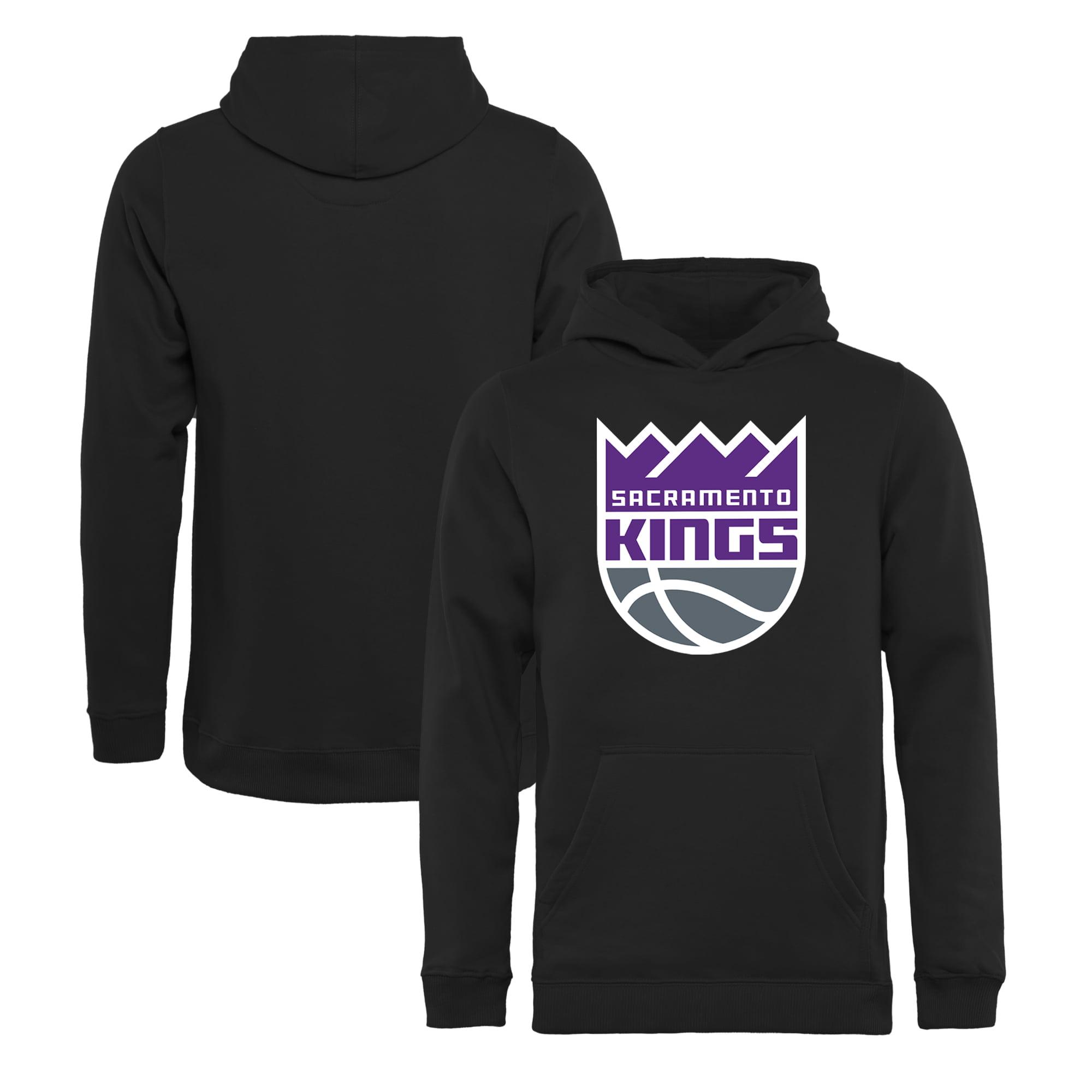 Sacramento Kings Fanatics Branded Youth Primary Logo Pullover Hoodie - Black
