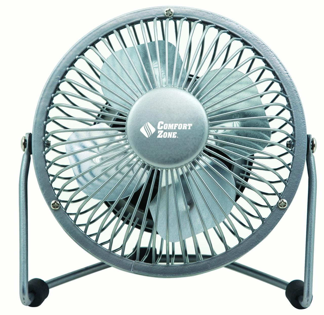"Comfort Zone 4"" High Velocity USB Fan"