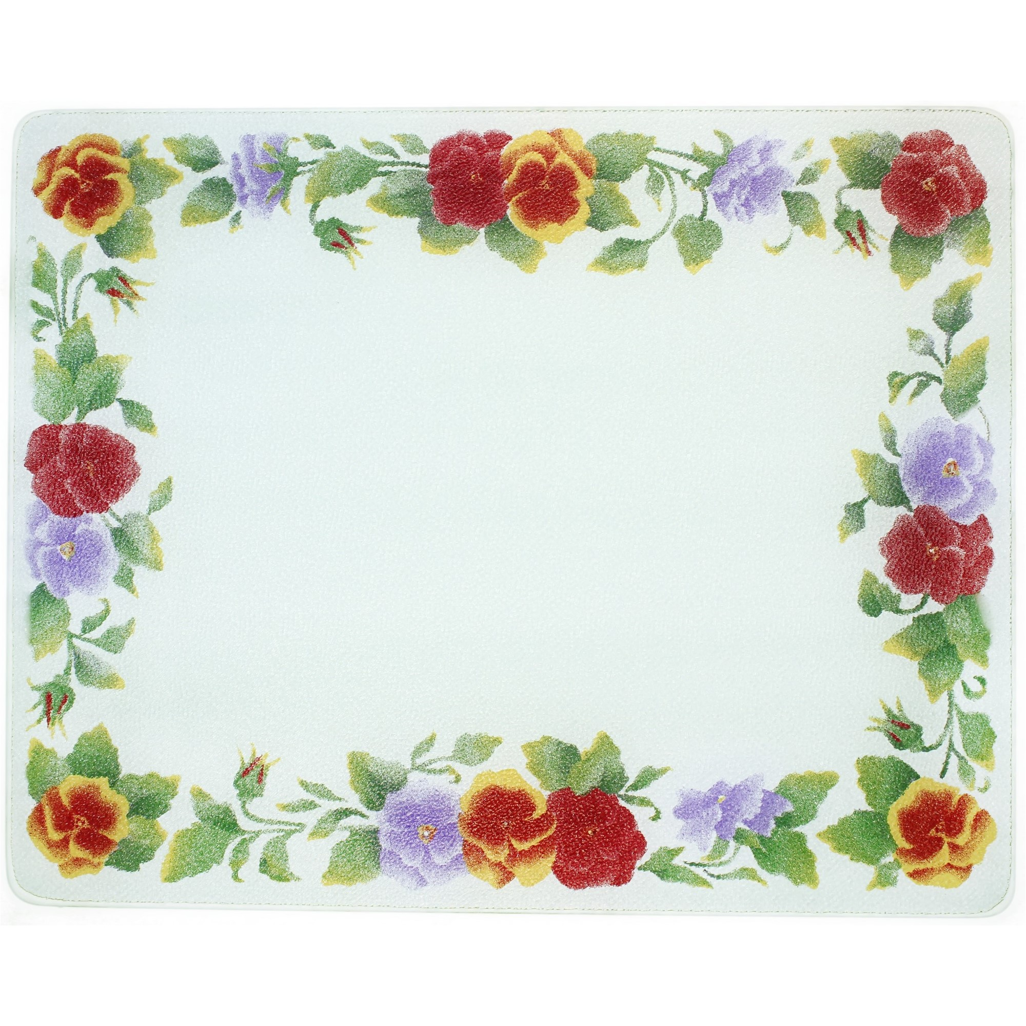 Corelle Summer Blush 20 X 16 inch Counter Saver Tempered Glass Cutting Board, 92016SMBH