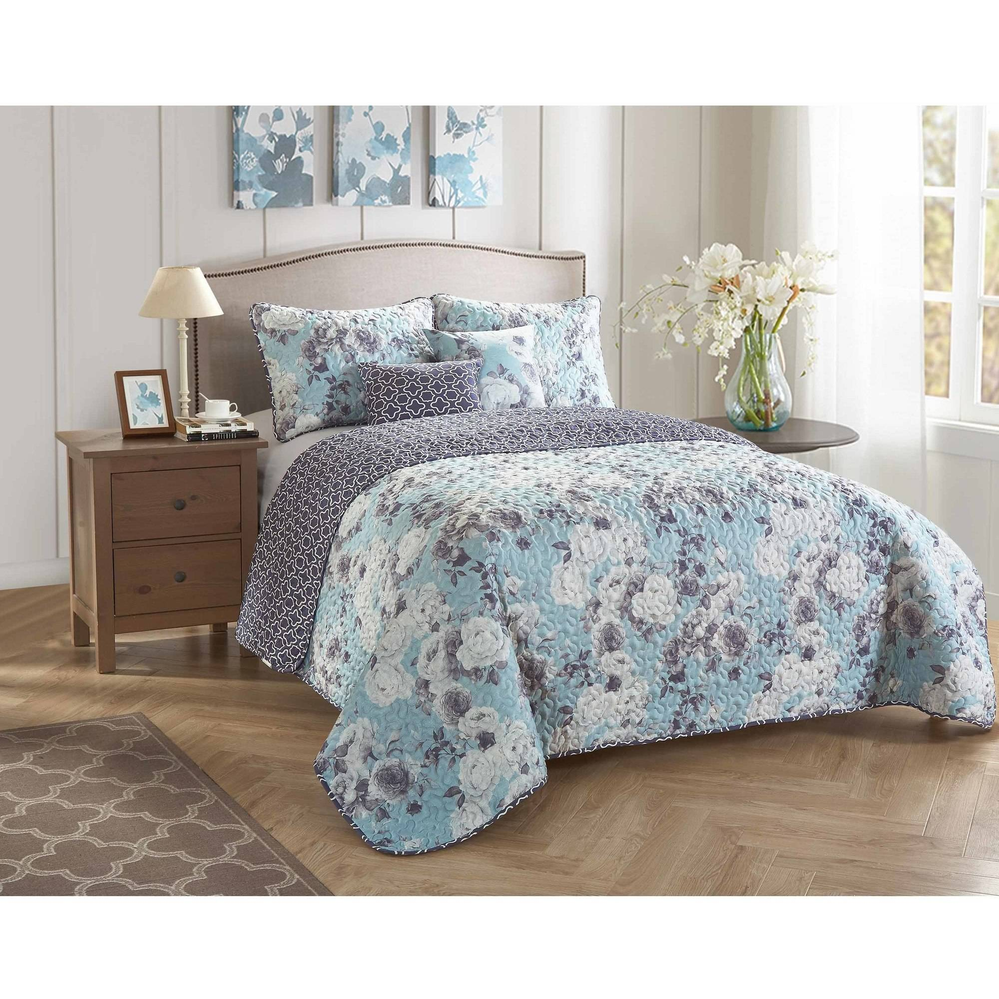 StyleNest Lisa 5-Piece Bedding Quilt Set by Idea Nuova