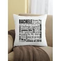 Personalized Dream Big Graduation Pillow
