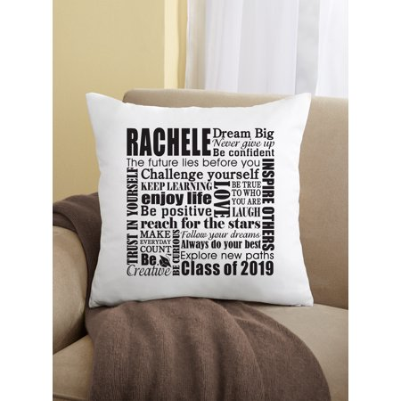 Personalized Dream Big Graduation Pillow