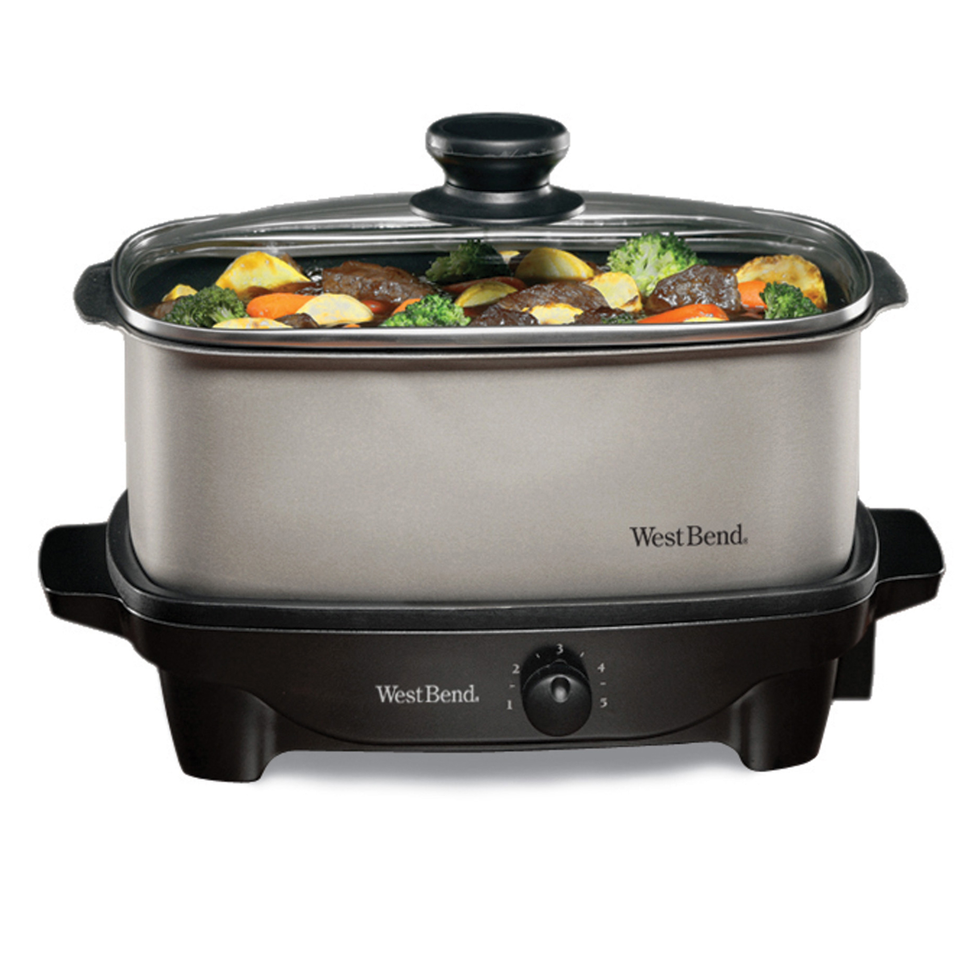West Bend 84905 5-Quart Versatility Slow Cooker