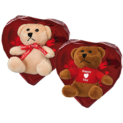 Russell Stover Valentine Heart Candy with Bear, 3.5 oz