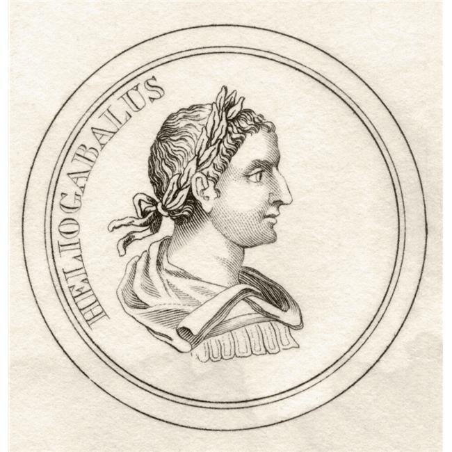 Posterazzi DPI1855619LARGE Elagabalus C203 222 Aka Heliogabalus Or Marcus Aurelius Antoninus Roman Emperor of The Severan Dynasty From The Book C Poster Print, Large - 24 x 24 - image 1 de 1