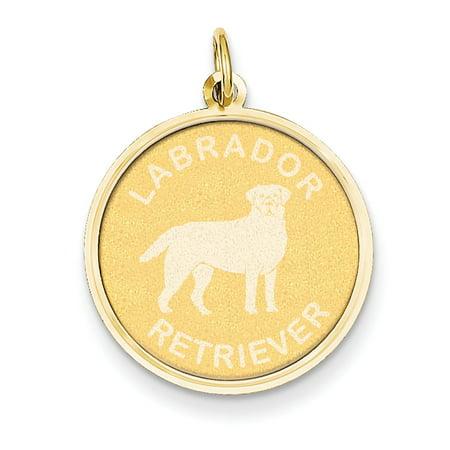 14K Yellow Gold Labrador Retriever Disc Charm - image 2 de 2