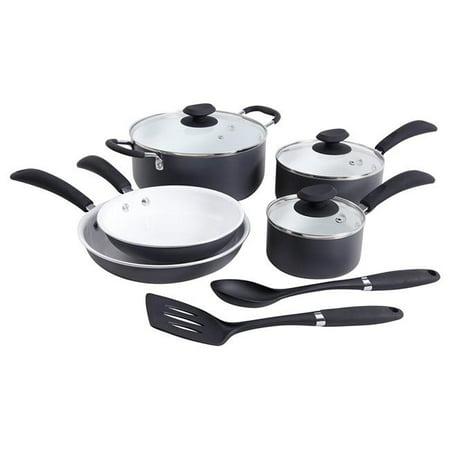 Home Eco-Friendly Hummington Aluminum Cookware Set - Green, 10