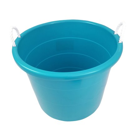 Mainstays 17 Gallon Plastic Utility Tub with Rope Handles, Teal Sachet, Set of (2 Handled Tub)