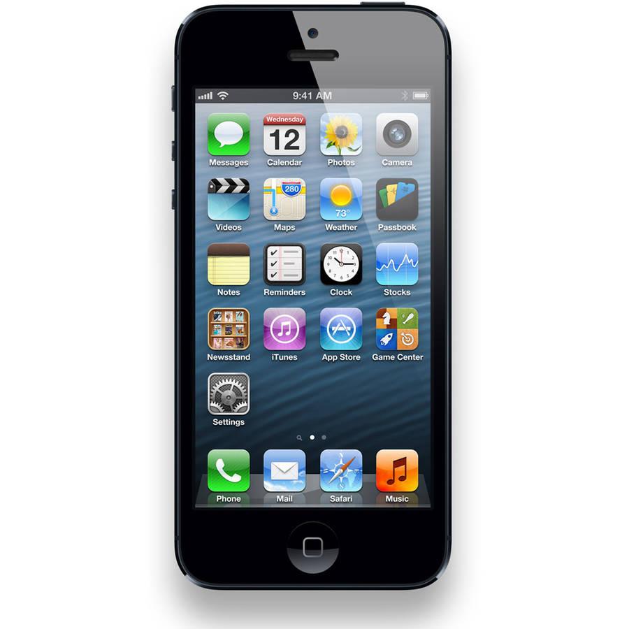 B-Grade Refurbished Apple iPhone 5 16GB GSM Smartphone (Unlocked), Black