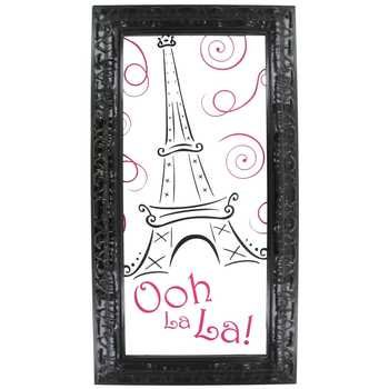 Ooh La La Paris Glass Wall Decoration Home Kids Girls Room - Paris Decorations