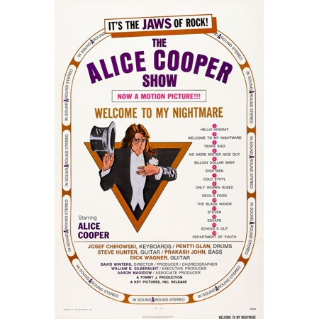 Gary Cooper Movie Poster - Alice Cooper Welcome To My Nightmare Us Poster Art Alice Cooper 1975 Movie Poster Masterprint