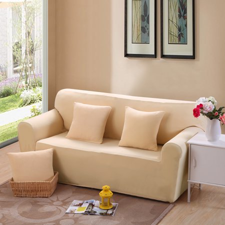 Reduce$ Sofa Cover Couch Stretch Slipcover Lightweight Anti-wrinkle Spandex Beige by Argstar - Walmart.com