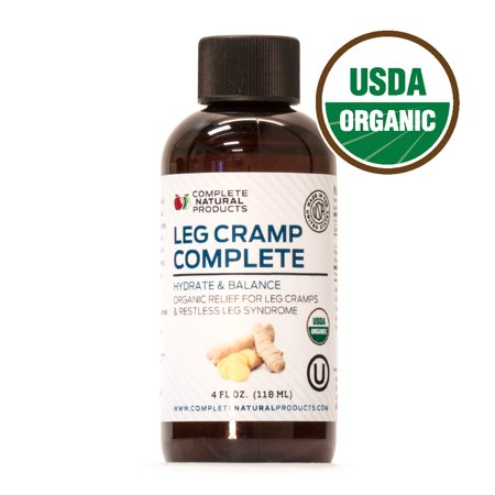 Leg Cramp Complete - Natural Liquid Organic Amish Muscle, Foot & Leg Cramp Remedy Relief, Vitamin, &
