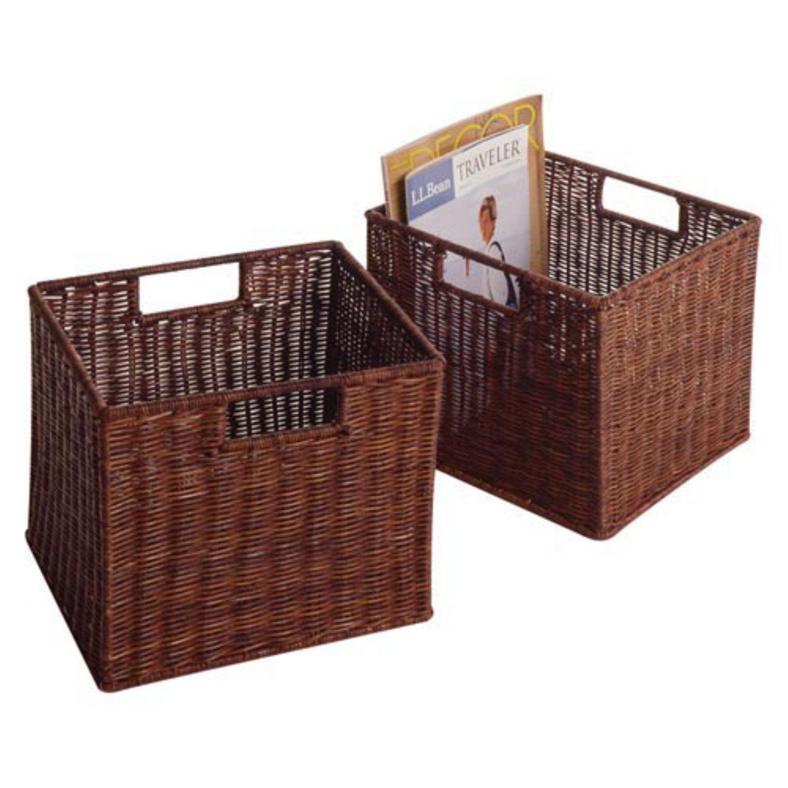 Espresso Wicker Basket Sets