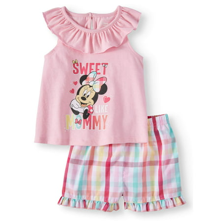Baby Girl Minnie Mouse Tee and Short, 2-Piece set (Baby Girl)](Baby Minnie Mouse Outfit)