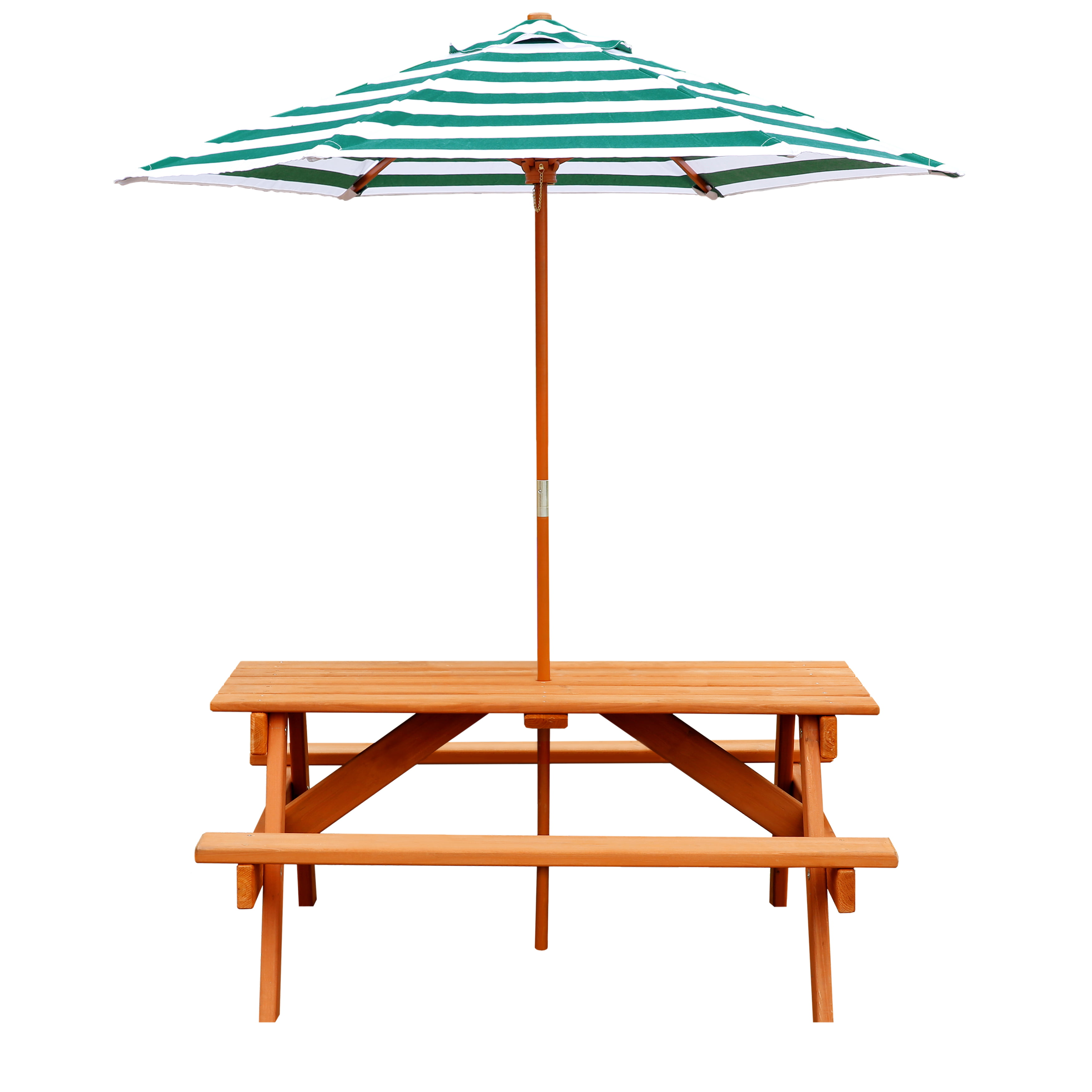 Gorilla Playsets Wooden Children S Picnic Table With Umbrella