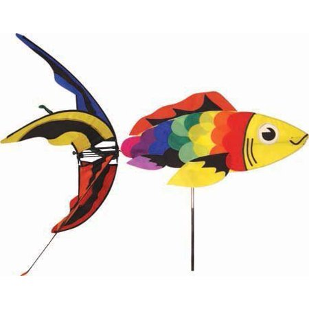 Aquatic life wind spinner rainbow koi fish for Rainbow koi fish